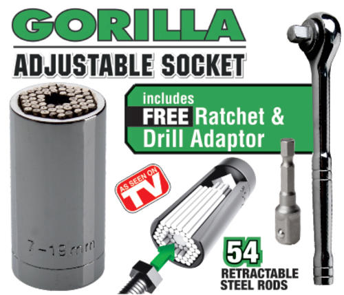 Delicieux Gorilla Adjustable Socket Set