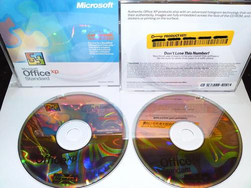 MS OFFICE XP STANDARD 2002 ACADEMIC EDITION, 2 CD + LEGAL LICENSE KEY   **SPECIAL**