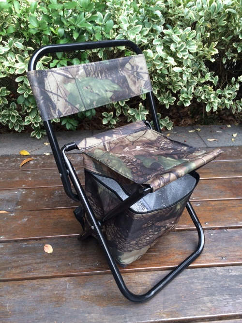 Rods Outdoor Folding Picnic Fishing Braai Chair w Cooler box was sold for