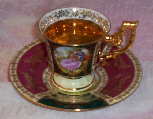 German Porcelain Beautiful Gilded Jk Decor Carlsbad Bavaria