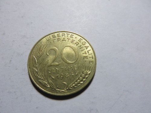 Europe - FRANCE - 20 CENTIMES - 1984 - AS PER SCAN was listed for R2 ...