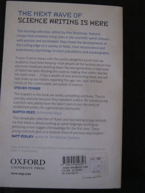 Future science    essays cutting edge  I participated in a booksprint that culminated in the book  The Cost of  Freedom  a Collective Inquiry  with    other contributors like Lawrence  Lessig and