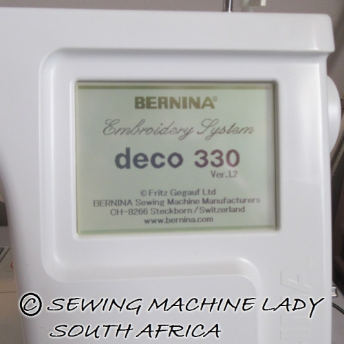 bernina deco 330 embroidery machine