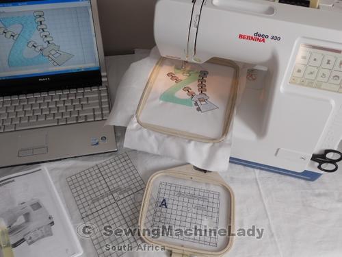 BERNINA DECO 330 EMBROIDERY MACHINE+CARD KIT