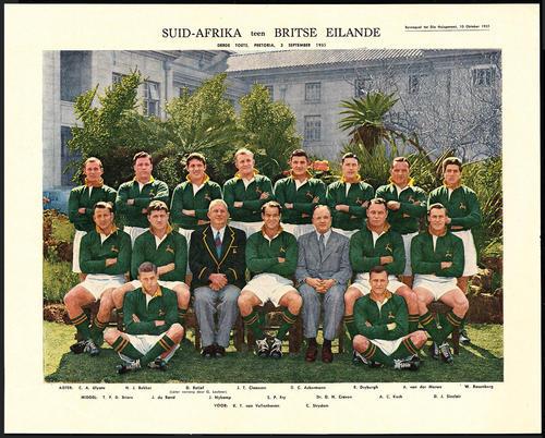 Africana Springbok Rugby 1955 Lions Tour Photos X3