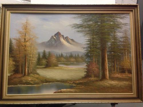 Oils Stunning Framed Oil Landscape Painting By Antonio