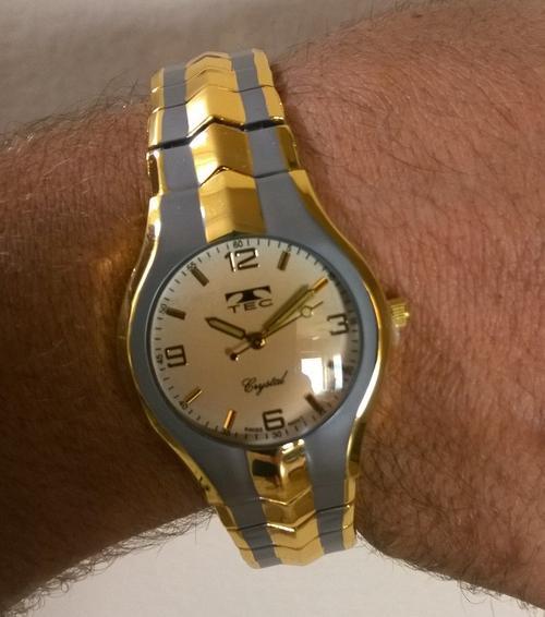 Men's Watches - Men's/Boy's Gold Tone/Grey TEC Wrist Watch ...