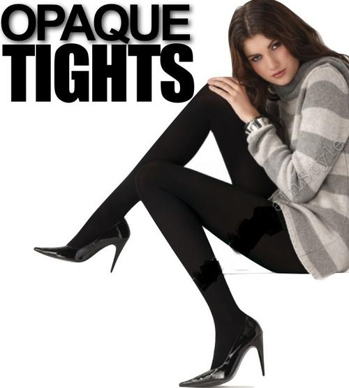 46052c80389 BLACK Ladies Opaque Warm Fleece Lined Soft Winter Full foot Tights One Size  Fit All