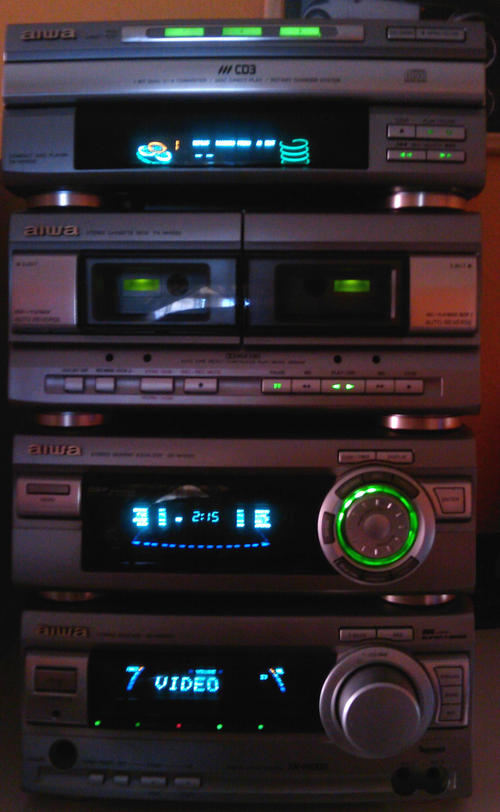 Home Theatre Systems Aiwa Component Hi Fi System 4 1