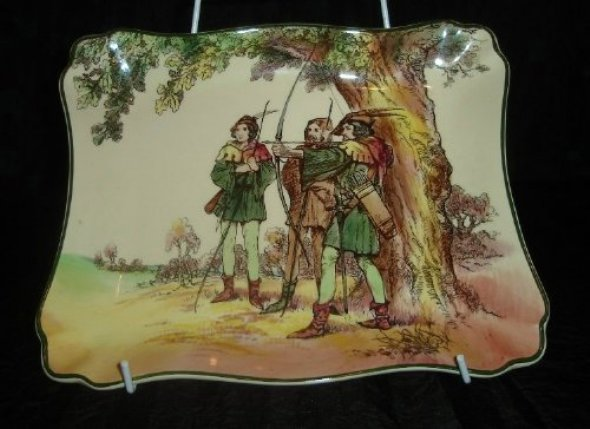 ROYAL DOULTON SERIESWARE UNDER THE GREENWOOD TREE / ROBIN HOOD D6341 PLATE  from BLISFUL