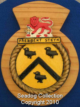 (225) SA Navy obsolete ships badge SAS President Steyn
