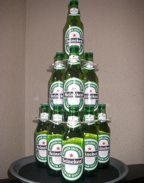 Торт из стеклянных бутылок пива своими руками 51