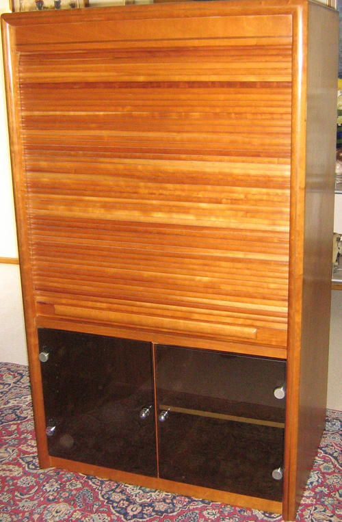 Cabinets - MULTIPURPOSE CHERRYWOOD CABINET WITH ROLL-UP DOOR was ...