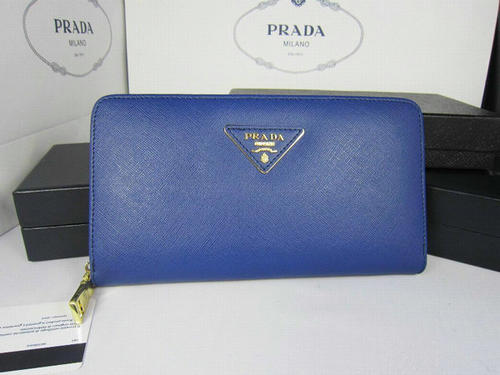 Blue Prada Wallet