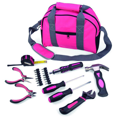 other tools & kits - ladies pink toolkit in bag with tools ( always ...
