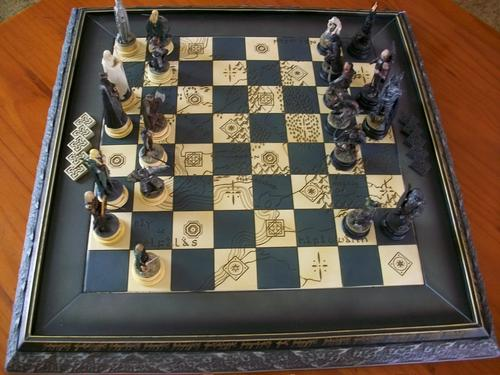 Other ornaments incomplete lord of the rings chess set was sold for on 28 jan at 12 16 - Lord of the rings chess set for sale ...