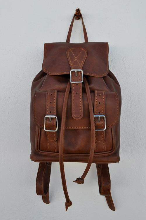 daeb7c16c5 Handbags   Bags - Brown Leather Backpack was sold for R600.00 on 5 ...