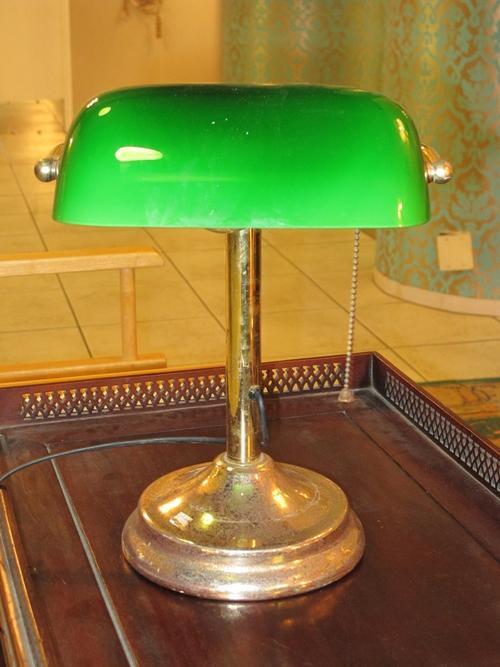 Vintage Green Sade Desk Lamp