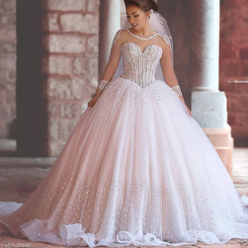 Ball Gown Wedding Dresses In Johannesburg : Wedding dresses pink ivory tulle ball
