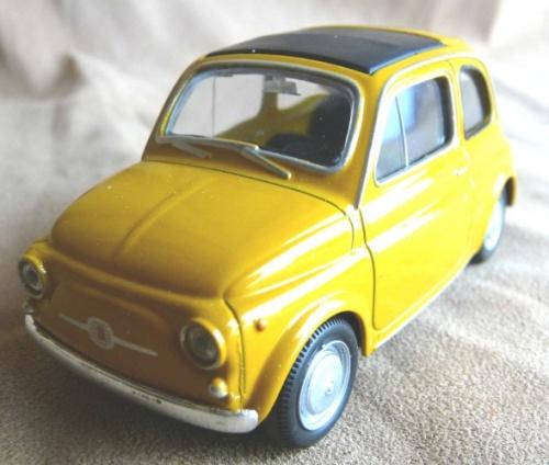 FIAT Nuova 500 1959 Orange-mustard NEW+boxed FREE