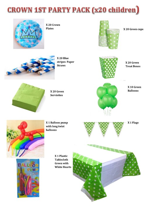 Party decor diy 1st birthday crown party pack for 20 for 1st birthday decoration packs