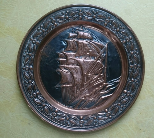 Copperware  COPPER PLATE as per photo was listed for R7500 on 31 May at 20 # Wasbak Frame_071949