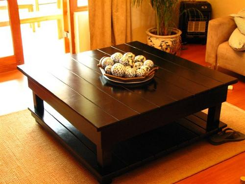 Large Coffee Table Dark Wood