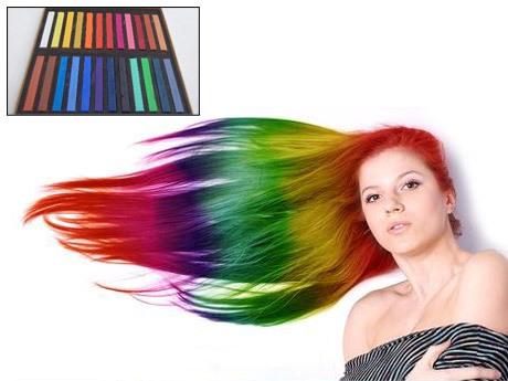 Hair Colourants & Dyes - Hair Chalk 24 unique and vibrant colours ...