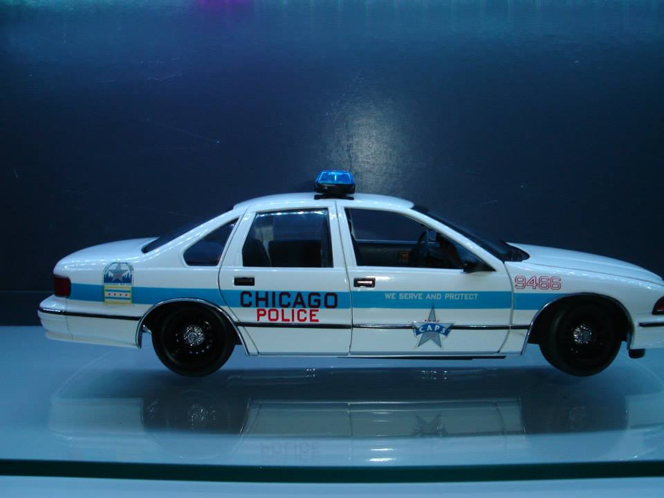 Chevrolet Caprice Chicago Police Car, 1:18 Diecast Model