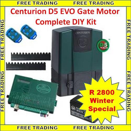 Alarm Systems Centurion D5 Evo Gate Motor Complete Diy