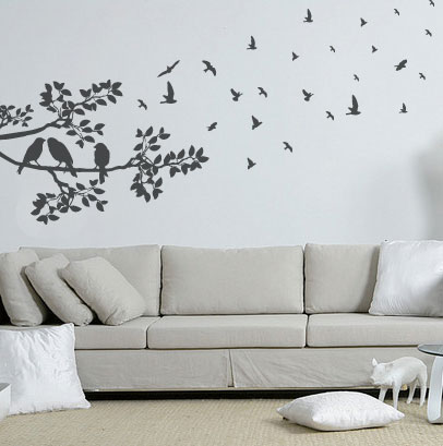 wall decals flying birds and branch vinyl wall art sticker decal