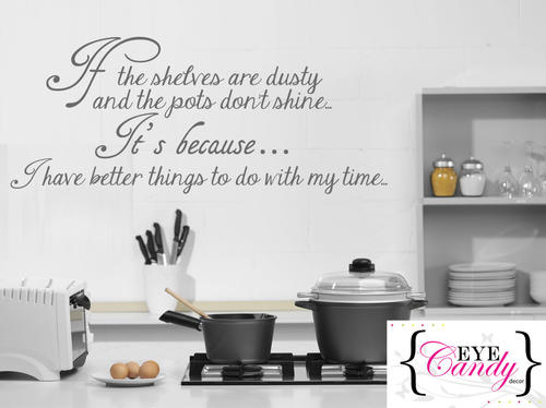 wall decals - funny kitchen quote vinyl wall art quote sticker decal