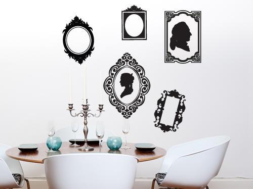 Wall Decals - 5 vintage style frames vinyl wall art -Wall Art ...