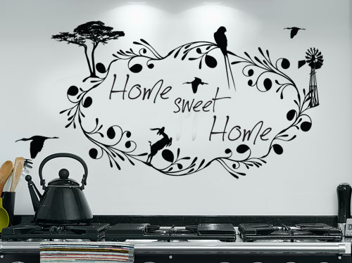South african home sweet home decal vinyl wall art sticker decal vinyl tattoo decor