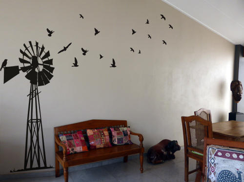 Wall decals giant south african windpump windpomp wall