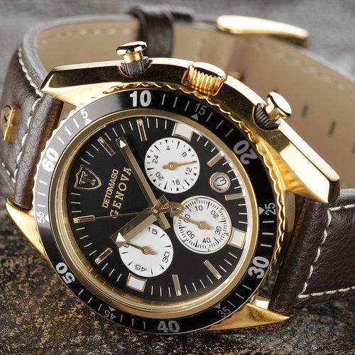for brown watches at sold jun mens sa racing genbr in on watch s leather genova dt chronograph co ion british luxury by was men detomaso item