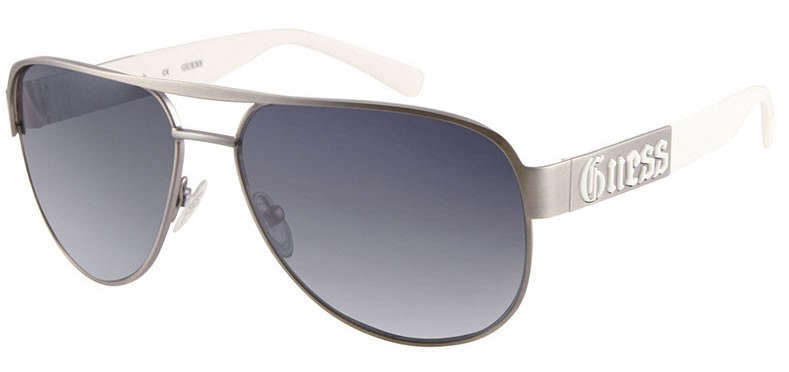 1426ca9a2a 100% Authentic GUESS Men s Aviator Satin Silver Sunglasses BRAND NEW boxed  with papers!! HOT!!!