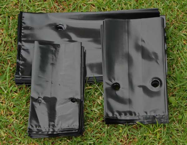Чёрная плёнка для рассады 68