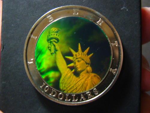 The Americas Republic Of Liberia 2000 10 Statue Of