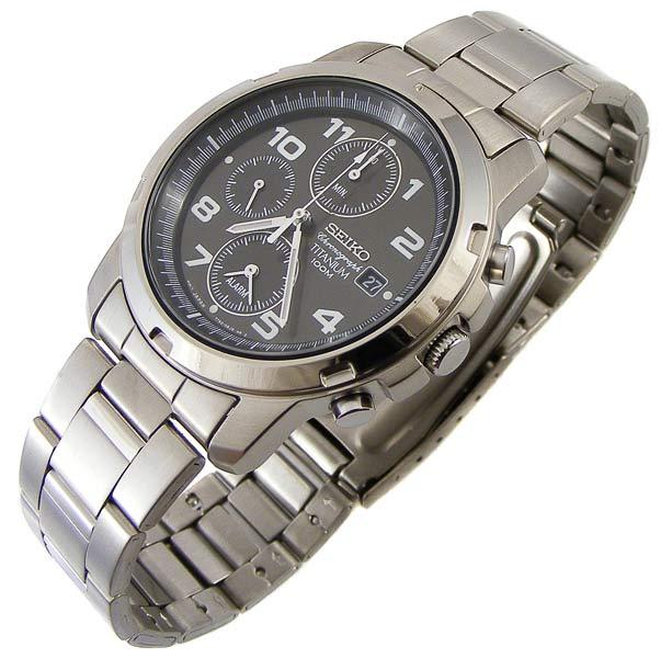 Mens Watches Seikosuper Titaniumonly 68 Gram Chronograph