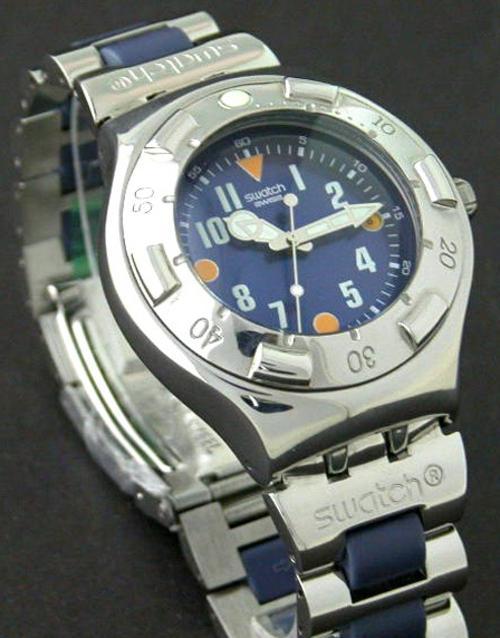 Men 39 s watches swatch swiss made eta movement gents - Swatch dive watch ...