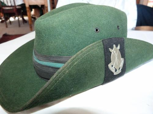 1cbd8f95950 Headgear - Rhodesian Africa Rifles - slouch hat and badge was sold ...