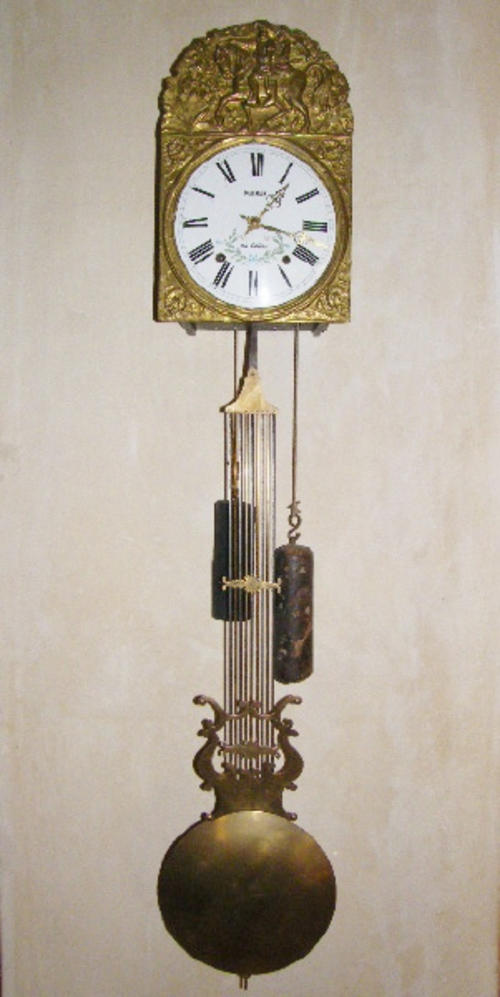 Cuckoo wall clocks antique darmais au coteau french morbier clock circa 1880 with - Cuckoo pendulum wall clock ...