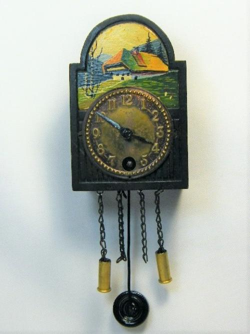 Cuckoo wall clocks vintage miniature wall clock with pendulum working as per photo was - Cuckoo pendulum wall clock ...