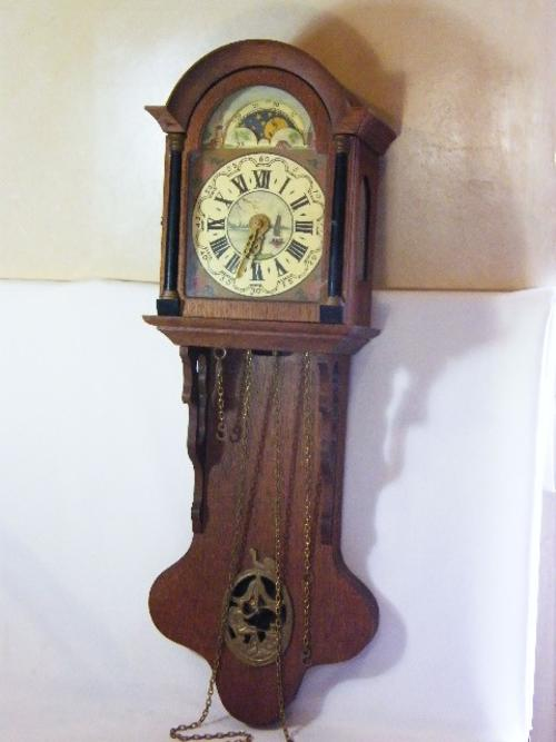 Cuckoo wall clocks old dutch weight driven wall clock with moon phase pendulum needs - Cuckoo pendulum wall clock ...