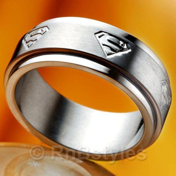 Rings - MEN'S Stainless Steel SUPERMAN Spinner Ring (Silver) NEW was sold for R79.00 on 27 Dec ...