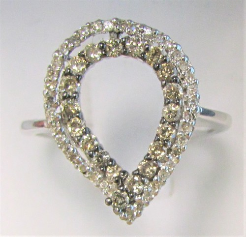 Engagement Rings WOW FACTOR [R ] WHITE CHAMPAGNE ROUND CUT [0 620ct