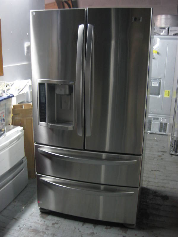 unusual refrigerator lg double door.  a sophisticated LED control panel an external ice and water dispenser 22 6 cubic foot storage capacity this LG French door refrigerator handles Fridges Freezers Door Refrigerator Stainless Steel was