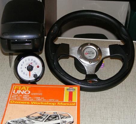 Car Parts Accessories Fiat Uno Sport Steering Centre Console