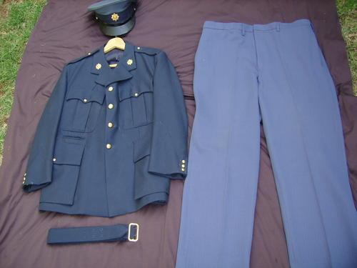 OLD SOUTH AFRICAN POLICE UNIFORM-COMPLETE -(Trouser,Cap Belt Jacket)-